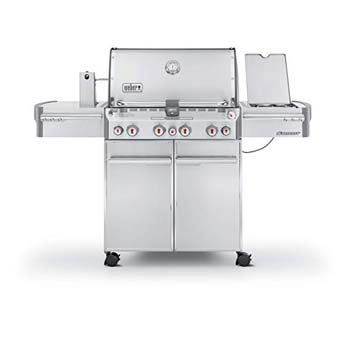 8. Weber Summit 7170001 S-470 Stainless-Steel 580-Square-Inch 48,800-BTU Liquid-Propane Gas Grill