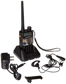 4. Baofeng UV5RA Ham Two Way Radio 136-174/400-480 MHz Dual-Band Transceiver (Black)