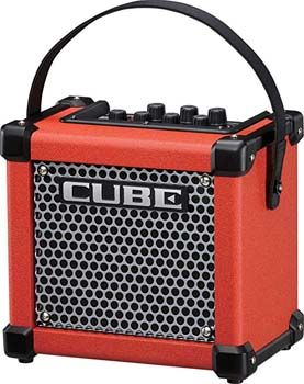 9. Roland Micro Cube GX 3W 1x5 Battery Powered Guitar Combo Amp Red