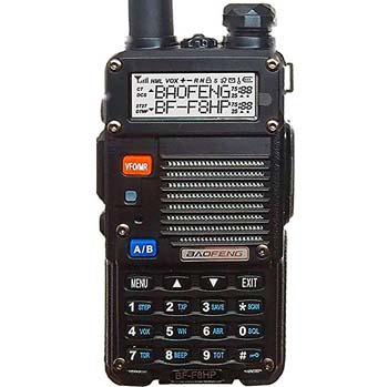 5. BaoFeng BF-F8HP (UV-5R 3rd Gen) 8-Watt Dual Band Two-Way Radio Full Kit with Large Battery