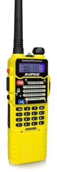 9. Baofeng Yellow BF-F9 V2+ HP 8Watt Tri-Power (1/4/8w) w/3800mah Extended Battery