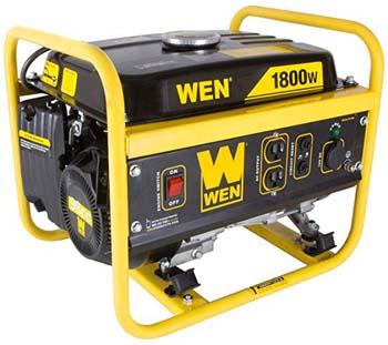 3.WEN 56180 1800-Watt Portable Power Generator, CARB Compliant