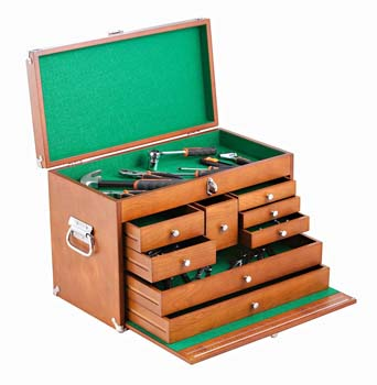 2. TRINITY TWM-3501 Wood Toolbox, Brown