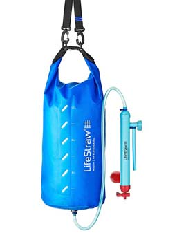 9. LifeStraw Mission Water Purification System, High-Volume Gravity-Fed Purifier for Camping and Emergency Preparedness