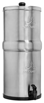 3. Alexapure Pro Stainless Steel Water Filtration System - 5,000 Gallon Throughput Capacity