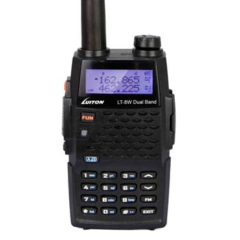 2. LUITON LT-8W Dual Band 2-Way Ham Radio: Transceiver Long Distance Amateur Portable Walkie Talkie(Black)