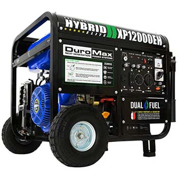 2. DuroMax XP12000EH Dual Fuel Portable Generator