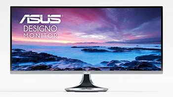 "8. ASUS Designo Curved MX34VQ 34"" UWQHD 100Hz DP HDMI Adaptive-Sync Qi Wireless Charger Eye Care Frameless Monitor"