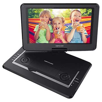 4. DBPOWER BLACK 14 INCH SWIVEL SCREEN