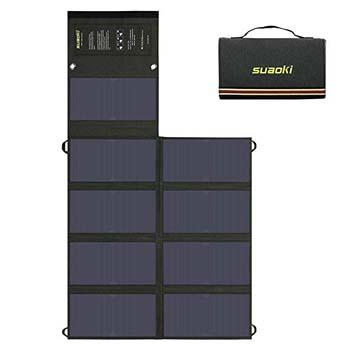 7. Suaoki 60W Solar Charger (5V USB + 18V DC)