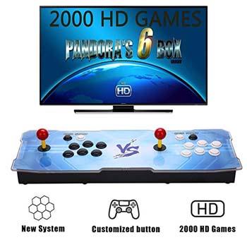 4. GroGou Arcade Video Game Console 2000 Retro Games Pandoras Box 6 Arcade Machine