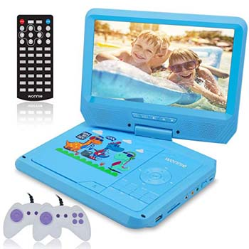 6. WONNIE 9.5 INCH BLUE KIDS DVD PLAYER