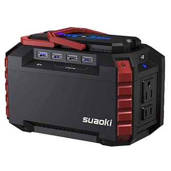 1. SUAOKI Portable Power Station 150Wh Quiet Gas Free Solar Generator