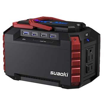 1. SUAOKI Portable Power Station 150Wh Quiet Gas Free Solar Generator