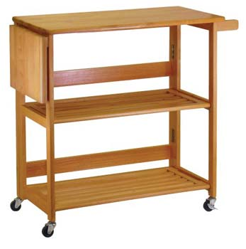 8. Winsome Wood Foldable Kitchen Cart