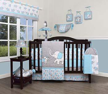 5. GEENNY Boutique Baby 13 Piece Nursery Crib Set