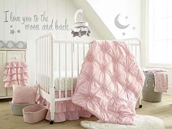 6. Levtex Home Baby Willow 5 Piece Crib Bedding Set- Pink