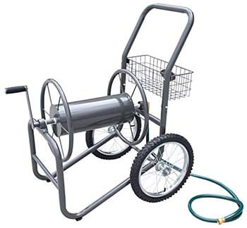 7. Liberty Garden Industrial Hose Reel Cart With Pneumatic Tires (2-Wheel)