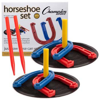 4. Champion Sports Rubber Horseshoe set