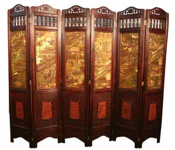 9. Asian Home Vintage Room Divider