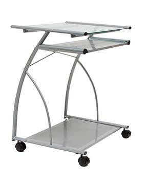9. Calico Designs 50101 L-Shaped Computer Cart