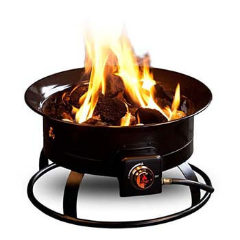 3. Outland Firebowl 823-Outdoor Portable (Propane Gas) Fire Pit