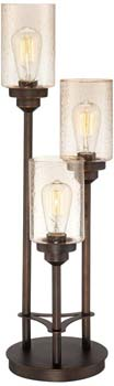 5). Libby 3-Light Industrial Console Lamp