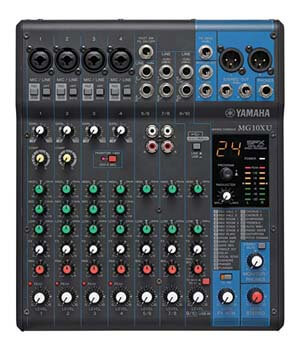 2. Yamaha MG10XU 10-Input Stereo Mixer with Effects