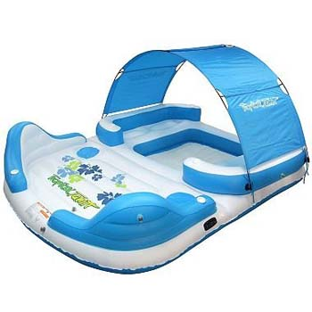 1. TropicalTahiti Inflatable Floating Island 6-Person Capacity