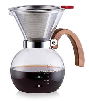 10. Pour Over Glass Coffeemaker by Diguo