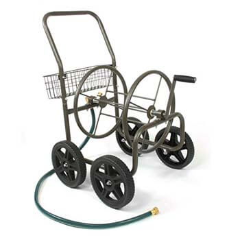 10. Liberty Residential Grade 4-Wheel Hose Reel With Cart For Garden