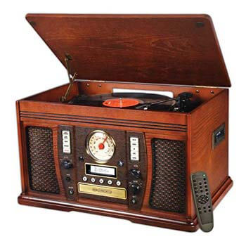 01. Victrola Aviator 7-in-1 Turntable Entertainment Center