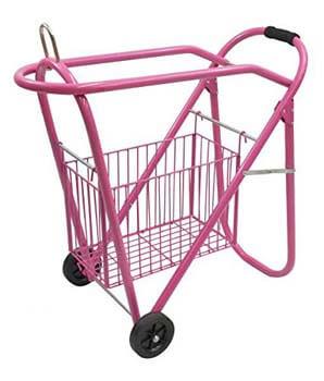 7. Western/English Saddle Rack & Tack Basket Pink