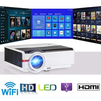 8. Home Cinema Theater Android Multimedia Smart Projector by CAIWEI