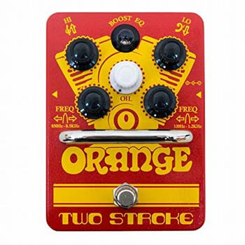 7). Orange 2 Stroke EQ Boost Pedal