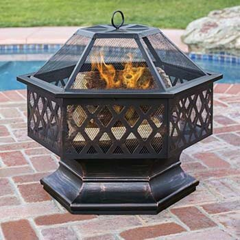 8. Hex Shaped-Fire Pit