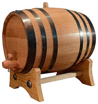 8. 5.3 Gallon American White Oak Aging Barrel