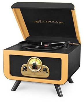 07. Victrola Tabletop Turntable Entertainment Center