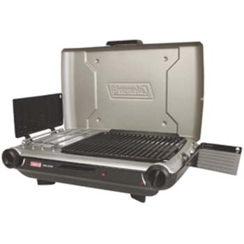01). Coleman Perfect-Flow Portable Propane Stove/Grill