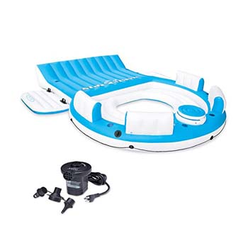 7. Intex Relaxation Island Raft and Intex AC Electric Air Pump