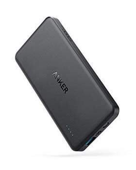5. PowerCore II Slim 10000 Ultra Slim Power Bank by Anker