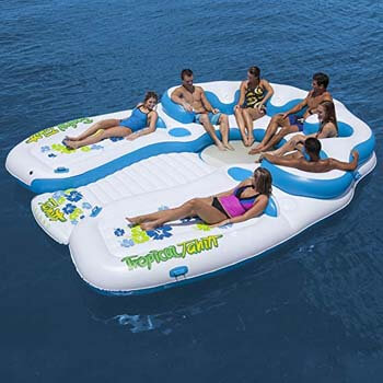 3. Tropical Tahiti Floating Island 7 Person Inflatable Raft