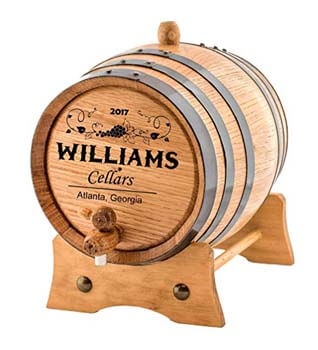 10. Personalized Wine Oak Aging Barrel.