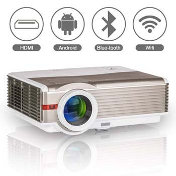 7. Bluetooth Wireless Home Theatre Projector by EUG