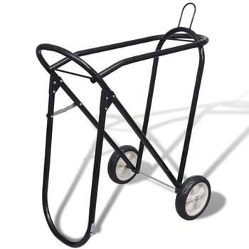 9. vidaXL Collapsible Steel Saddle Stand