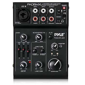 9. Pyle 3 Channel DJ Controller