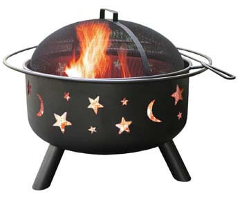 10. Landmann 28345-Big Sky Stars & Moons Fire Pit