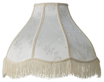 4. Brentwood Cream Scallop Dome Lamp Shade