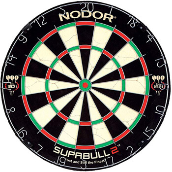 9. Nodor Supabull2 Bristle Dartboard
