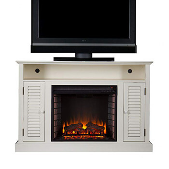 7. Southern Enterprises Antebellum Media Electric Fireplace 48